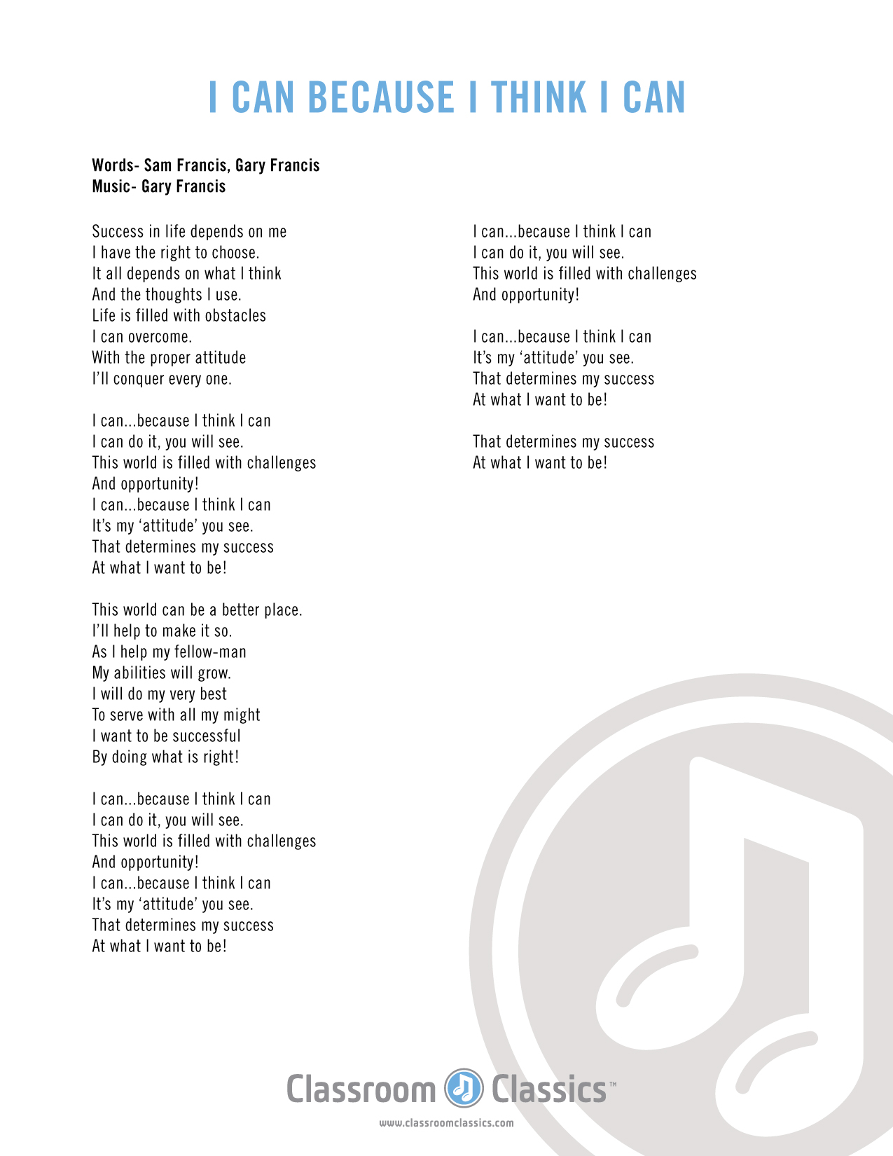 because i am happy lyrics pdf