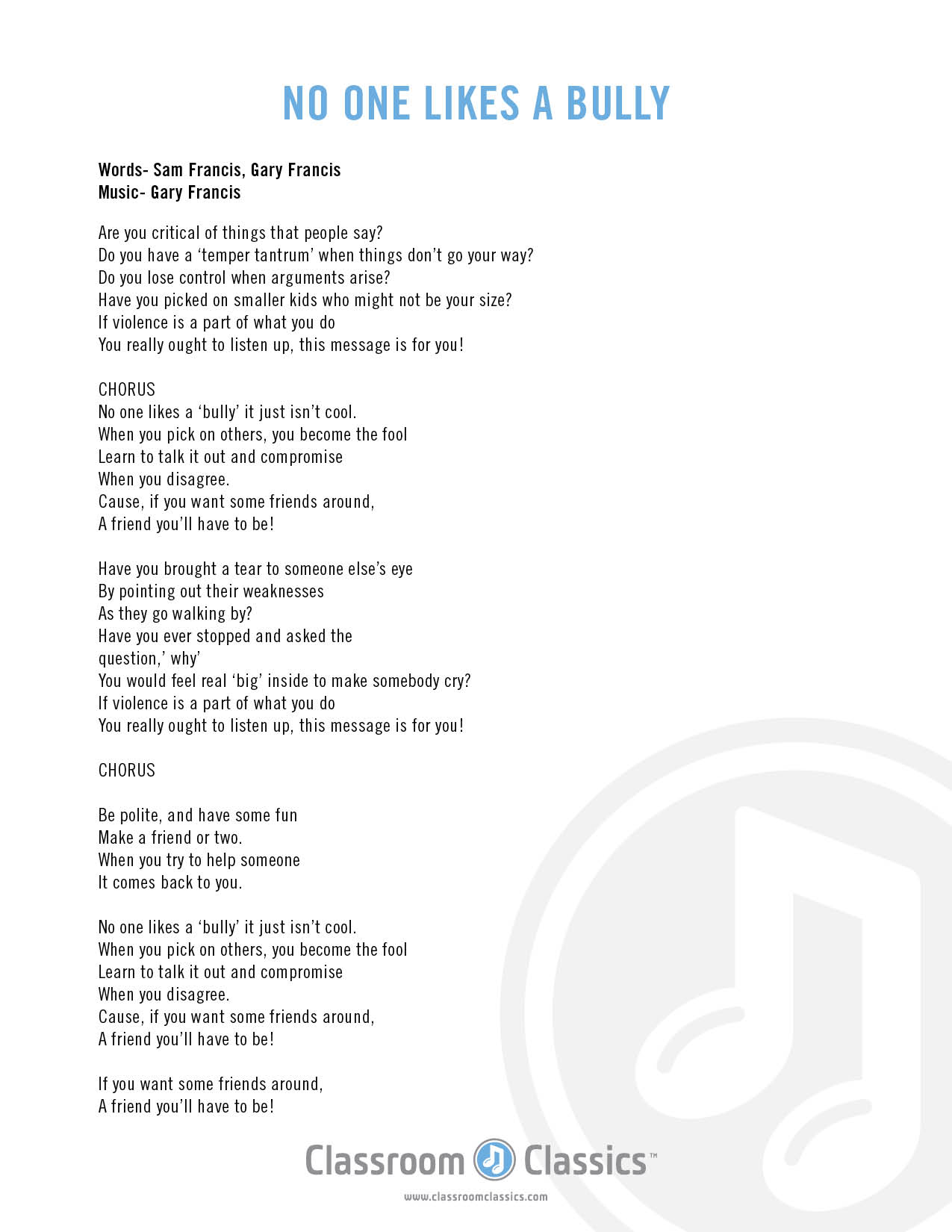 Jada Facer - Your Own Way (Anti Bullying) Lyrics | MetroLyrics